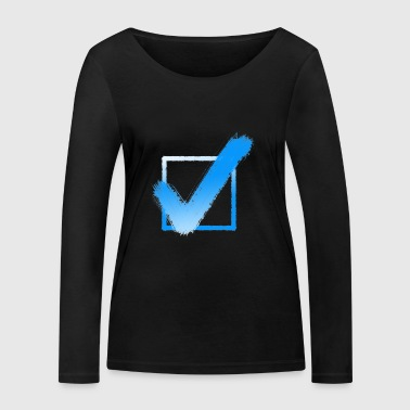 Check Hook Checkmark Yes Checklist Gift Idea - Women's Organic Longsleeve Shirt by Stanley & Stella