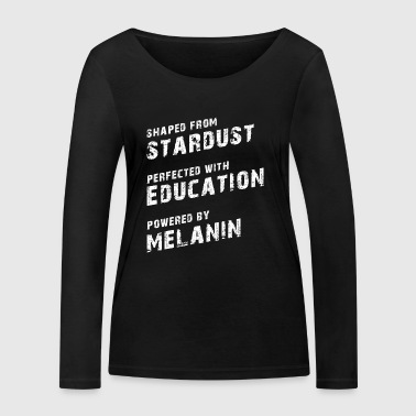 Stardust Education Melanin Black Pride - Women's Organic Longsleeve Shirt by Stanley & Stella