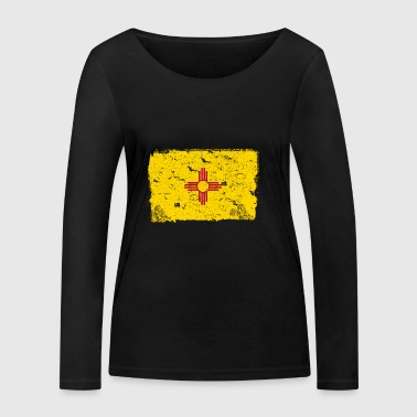 New Mexico vintage flag - Women's Organic Longsleeve Shirt by Stanley & Stella
