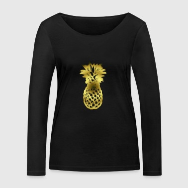 Golden pineapple - Women's Organic Longsleeve Shirt by Stanley & Stella