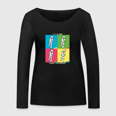 Troop Art - Stormtrooper at Pop Art Party - Women's Organic Longsleeve Shirt by Stanley & Stella