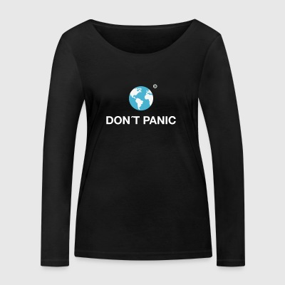 dont panic earth planet hitchhiker galaxy towel - Women's Organic Longsleeve Shirt by Stanley & Stella