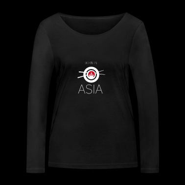 Born in asia Asia born chopsticks China l - Women's Organic Longsleeve Shirt by Stanley & Stella