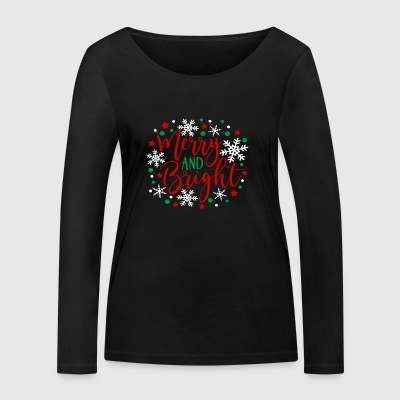 Merry and Bright - Women's Organic Longsleeve Shirt by Stanley & Stella