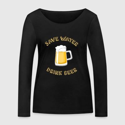 Funny Beer Water Shirt - Gift - Women's Organic Longsleeve Shirt by Stanley & Stella