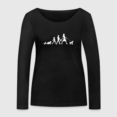 Chinese Crested Gifts Grow Evolution Woman - Women's Organic Longsleeve Shirt by Stanley & Stella
