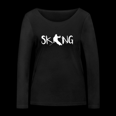 Skiing, powder snow, skiing holidays, winter holidays - Women's Organic Longsleeve Shirt by Stanley & Stella