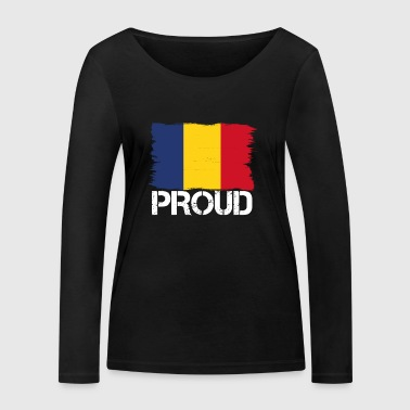 Pride flag flag home origin romania png - Women's Organic Longsleeve Shirt by Stanley & Stella