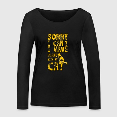 Excuse me, I can not talk to my cat Pl - Women's Organic Longsleeve Shirt by Stanley & Stella