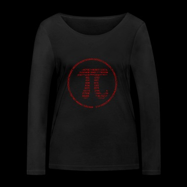 Pi - Pi Day - red - Women's Organic Longsleeve Shirt by Stanley & Stella