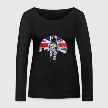 Astronaut Moon UK UK Flag - Women's Organic Longsleeve Shirt by Stanley & Stella