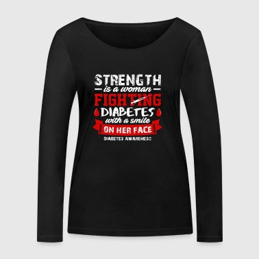 Strength Is A Woman Fighting Diabetes T-shirt - Frauen Bio-Langarmshirt von Stanley & Stella