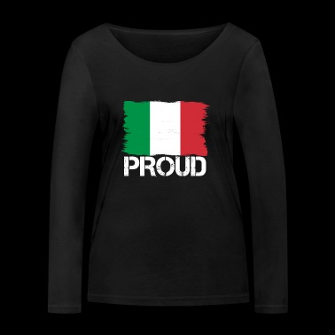 Pride flag flag home origin Italy png - Women's Organic Longsleeve Shirt by Stanley & Stella