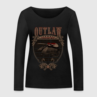 Outlaw Country Americana (Armadillo with guitar) - Women's Organic Longsleeve Shirt by Stanley & Stella