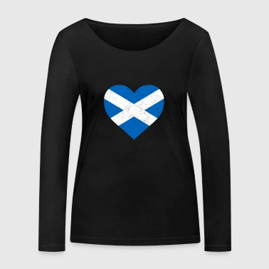 Scotland Flag Shirt Heart - Scottish Shirt - Women's Organic Longsleeve Shirt by Stanley & Stella