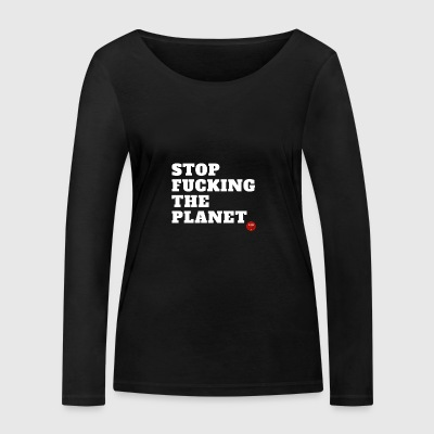 Save planet - T-shirt manches longues bio Stanley & Stella Femme