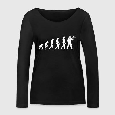 Evolution Paintball - Paintball T-Shirt - Frauen Bio-Langarmshirt von Stanley & Stella
