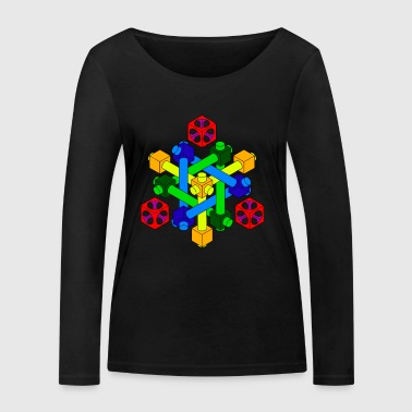 Optical Illusion Design - Women's Organic Longsleeve Shirt by Stanley & Stella