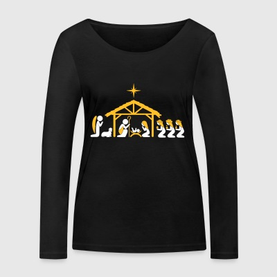 Nativity Scene - Women's Organic Longsleeve Shirt by Stanley & Stella