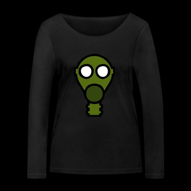 gas mask - Women's Organic Longsleeve Shirt by Stanley & Stella