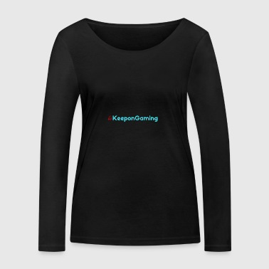 #KeeponGaming Red & Cyan - Women's Organic Longsleeve Shirt by Stanley & Stella