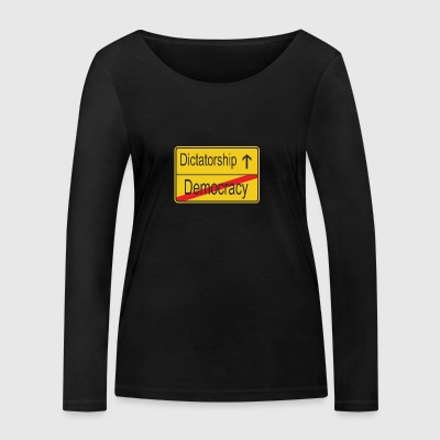 Leaving Democracy entering Dictatorship - Women's Organic Longsleeve Shirt by Stanley & Stella