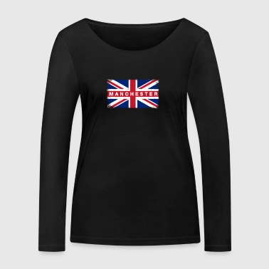 Manchester Shirt Vintage United Kingdom Flag - Women's Organic Longsleeve Shirt by Stanley & Stella