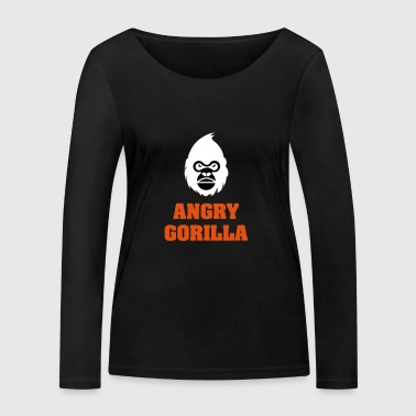 angry_gorilla_white - T-shirt manches longues bio Stanley & Stella Femme