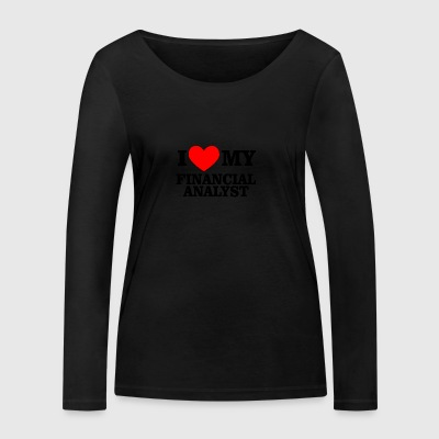 i love financial analyst - Frauen Bio-Langarmshirt von Stanley & Stella
