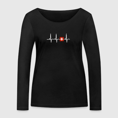 EKG heartbeat SWITZERLAND - Women's Organic Longsleeve Shirt by Stanley & Stella