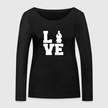 Chess / Chessboard: Love Chess - Women's Organic Longsleeve Shirt by Stanley & Stella