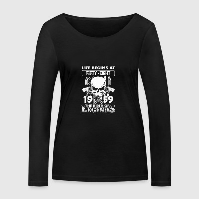 1959 The birth of Legends shirt - Women's Organic Longsleeve Shirt by Stanley & Stella