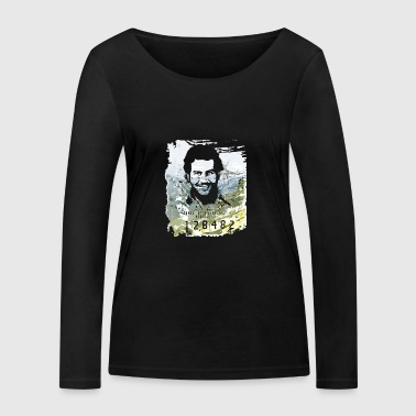 Pablo Escobar distressed - Women's Organic Longsleeve Shirt by Stanley & Stella