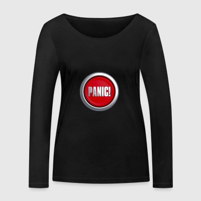 Panic Button - Women's Organic Longsleeve Shirt by Stanley & Stella