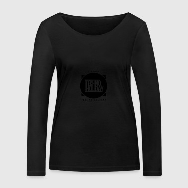logo_techno_holiday_2017_negro1 - T-shirt manches longues bio Stanley & Stella Femme
