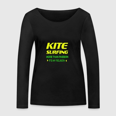 KITEBOARD PLUS DE PASSION - ITS MY RELIGION - T-shirt manches longues bio Stanley & Stella Femme
