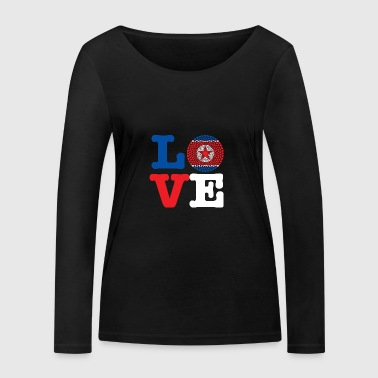 KOREA DEMO REP HEART - Women's Organic Longsleeve Shirt by Stanley & Stella