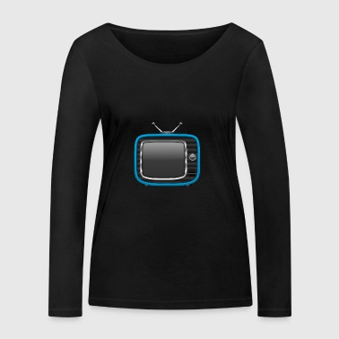 Retro Tv Blue 002 AllroundDesigns - Women's Organic Longsleeve Shirt by Stanley & Stella