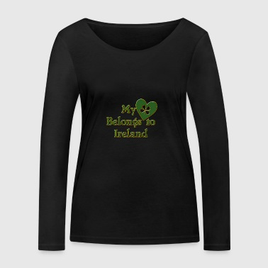 Irish My Heart Belongs To Ireland - Women's Organic Longsleeve Shirt by Stanley & Stella