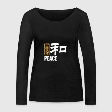 Chinese Words: Peace - Women's Organic Longsleeve Shirt by Stanley & Stella