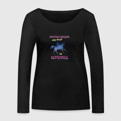 Unicorn queens are born in september - Women's Organic Longsleeve Shirt by Stanley & Stella