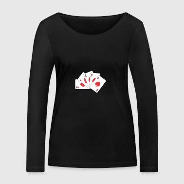 playing card - Women's Organic Longsleeve Shirt by Stanley & Stella