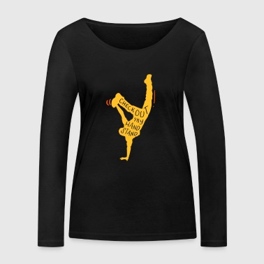 gymnastique acrobatique handstand dictons Headstand Fit - T-shirt manches longues bio Stanley & Stella Femme