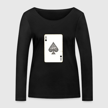 Games Card Ace Of Spades - Women's Organic Longsleeve Shirt by Stanley & Stella