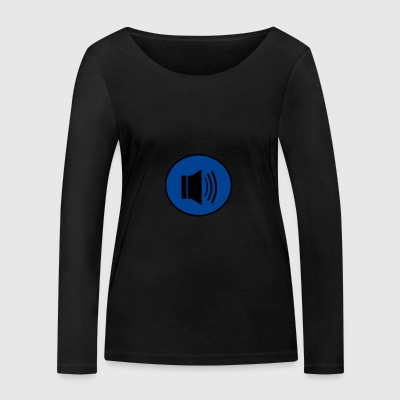 Audio button design - Women's Organic Longsleeve Shirt by Stanley & Stella