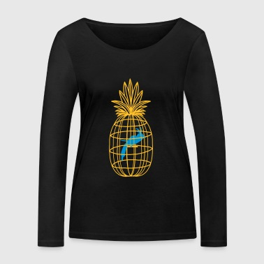 pineapple and bird cage - Women's Organic Longsleeve Shirt by Stanley & Stella