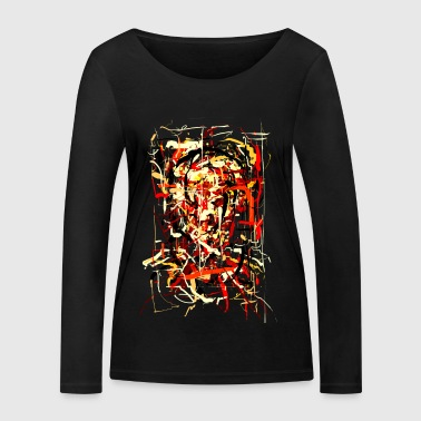 ink face - Women's Organic Longsleeve Shirt by Stanley & Stella