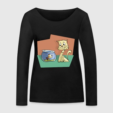 The aquarium and the cat - Women's Organic Longsleeve Shirt by Stanley & Stella
