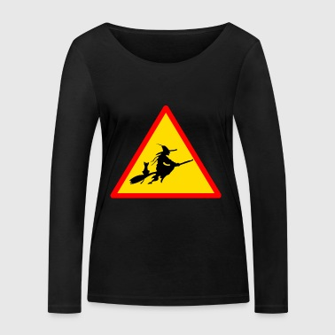 Road sign witch - Women's Organic Longsleeve Shirt by Stanley & Stella