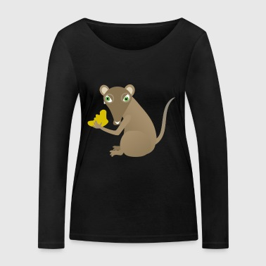 Mouse with cheese - Women's Organic Longsleeve Shirt by Stanley & Stella